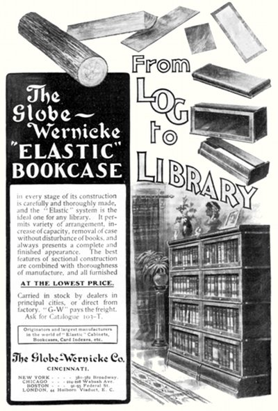 Globe-Wernicke 'Elastic' Bookcase, Harper's April 1903