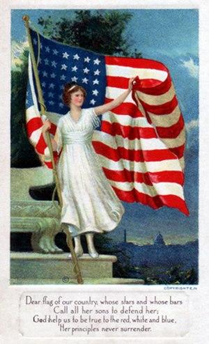 Postcard art - Dear flag of our country, circa 1917 (small)