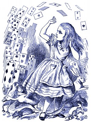 Alice versus Pack of Cards - John Tenniel