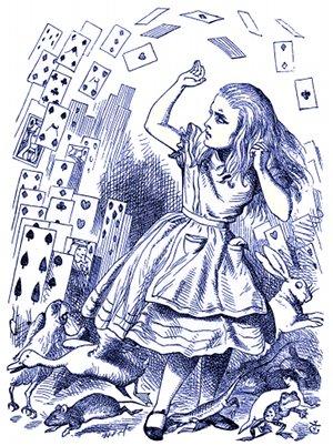 Alice versus Pack of Cards - John Tenniel