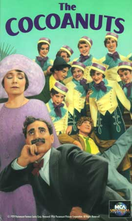 The Cocoanuts vhs cover - Marx Brothers