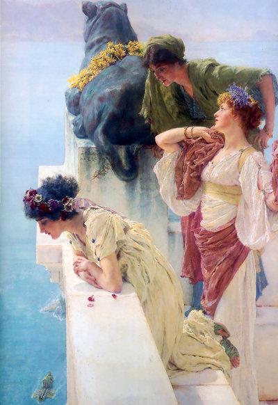 A Coign of Vantage, Lawrence Alma-Tadema, 1895