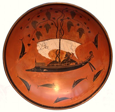 Dionysos Crossing the Sea - Exekias ca530BC