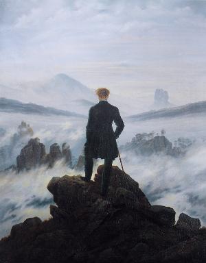 Der Wanderer über dem Nebelmeer - Caspar David Friedrich, 1818