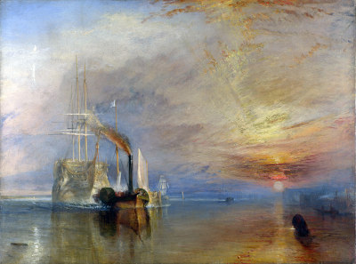 The Fighting Temeraire tugged to her last berth to be broken up, 1838 - JMW Turner, 1839 (small)