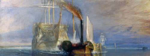 Fighting Temeraire, JMW Turner, 1839 (detail)