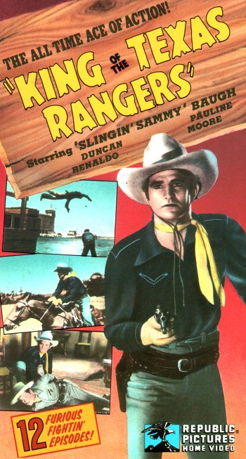 King of the Texas Rangers - English and Witney - vhs set cover