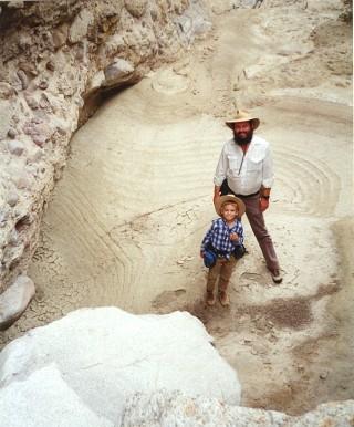 Desert waterhole, evaporation strata - DHF, RWF