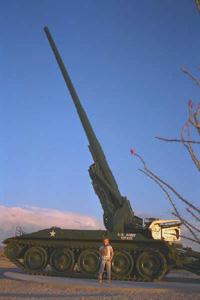 DH Franson at Yuma - artillery