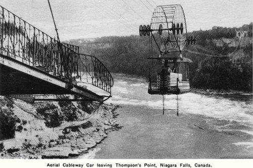 Postcard photo - Aerial Cableway, Niagara Falls, Ontario (small)