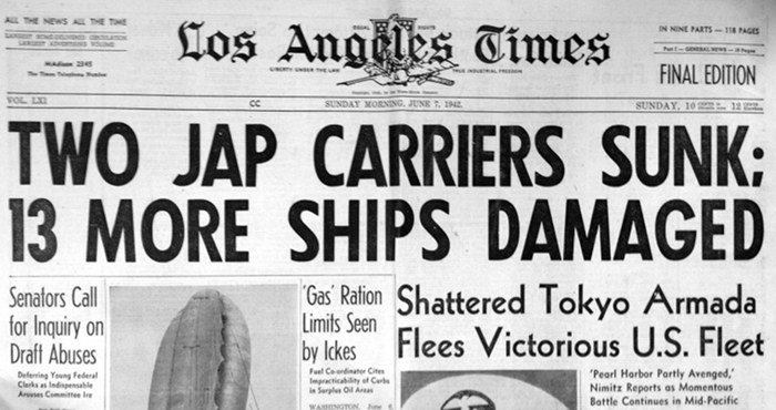 Midway-07June1942-LATimes-headline-700