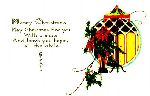 Postcard art - May Christmas find you With a smile, 21 December 1922 (small)