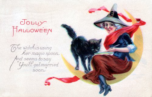 Postcard art - Jolly Halloween, 31 October 1923 (small)