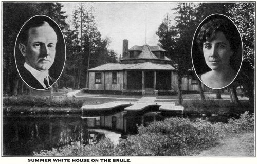 Postcard photo - Coolidge's Summer White House on the Brule, aoa 13 August 1928 (small)