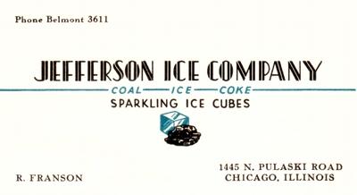 Jefferson Ice business card