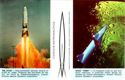 Atlas ICBM launch, Convair Astronautics, Space Ferry