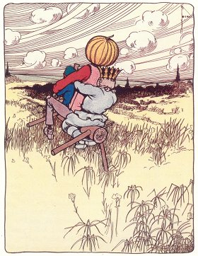 The Saw-Horse rocked and rolled over the fields - The Marvelous Land of Oz - John R. Neill, 1904