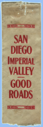 San Diego, Imperial Valley - Good Roads ribbon