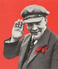 Vladimir I. Lenin waving, 1920