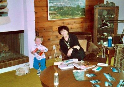 David Franson interviews Ann Maxwell at home, 1991 (small)