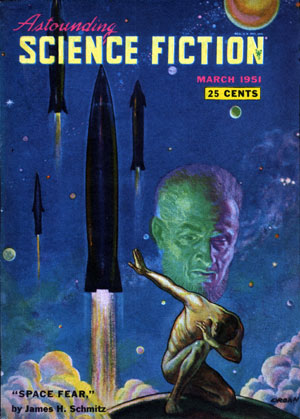 Space Fear (Schmitz) Astounding cover by Paul Orban