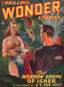 Weapon Shops of Isher - cover by Earle Bergey