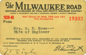 Milwaukee Road pass 1939 MrsGEH