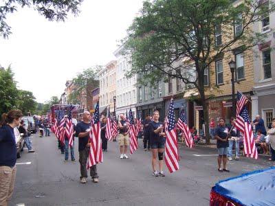 Flag Day flags, Hudson New York 2011 - Adrienne Ross