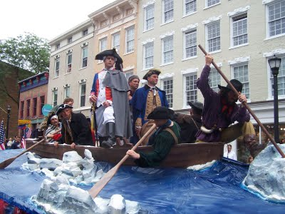 FlWashington Crossing the Delaware, Flag Day float 2011 - Adrienne Ross
