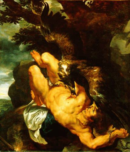 Prometheus Bound, by Rubens 1611-12
