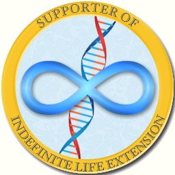 Supporter of Indefinite Life Extension - badge