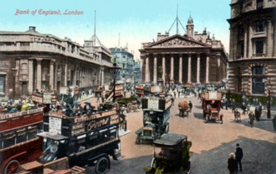 Postcard photo - Bank of England, London (small)