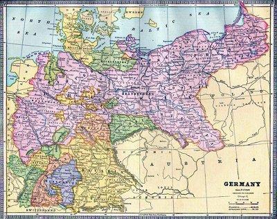 Germany 1886, Cram's Atlas (small)