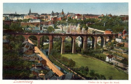 Postcard photo - Viaduc de la ligne du Nord, Luxembourg (small)