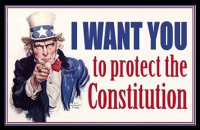 Uncle Sam: I Want You to Protect the Constitution - James Montgomery Flagg