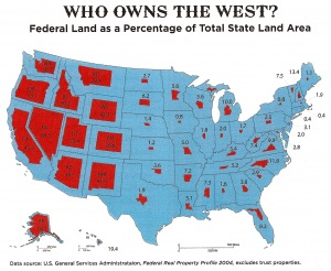 Who owns the West? map