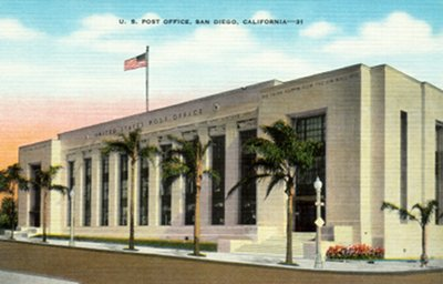 San Diego Post Office, opened 1937