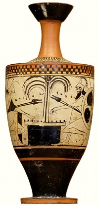 Achilles and Ajax playing dice, circa 500BC